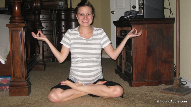 I was pleased with myself doing a full lotus pose at 19 weeks!