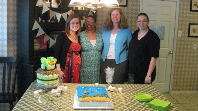 Just before I went on bed rest, Melissa hosted a baby shower for me.