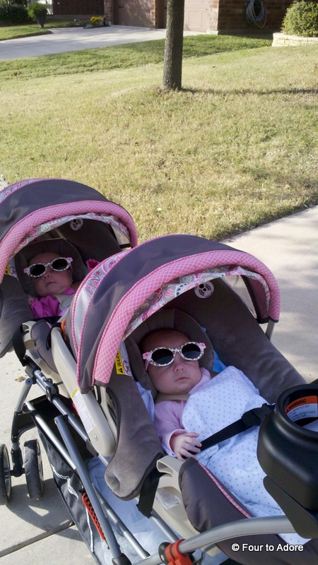 I picked up baby sunglasses for everyone not because they are precious, but because macular degeneration runs in my family and our peepers need protection!