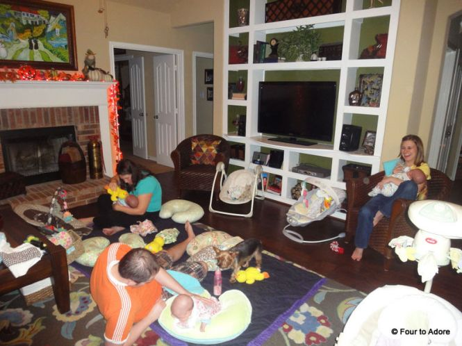 This is what it looks like when there are babies and baby feeders everywhere!