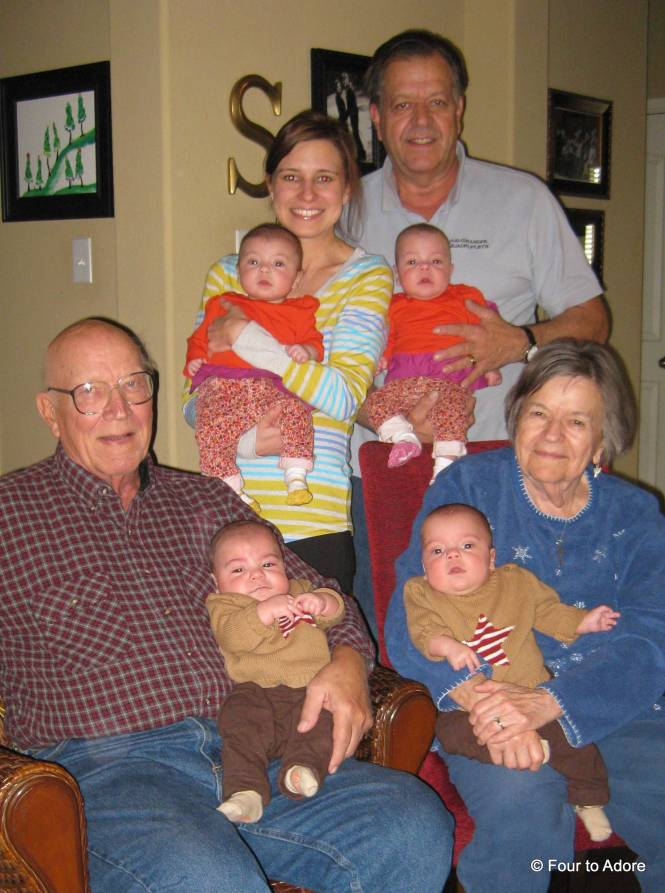 Here are four generations on my Dad's side of the family.