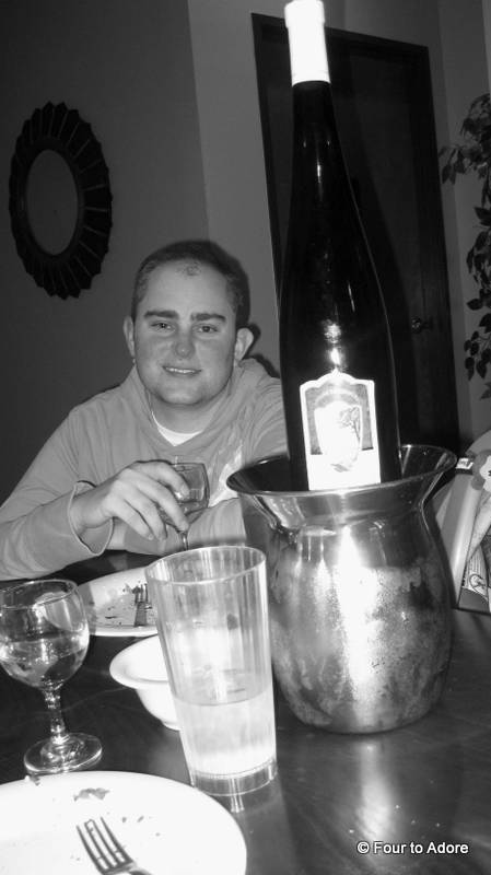 We love that Polenzo's is a BYOB establishment.  Notice the giant bottle of Reisling?