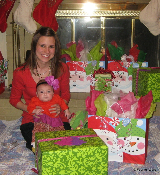 I just love how their gifts were bigger than them!