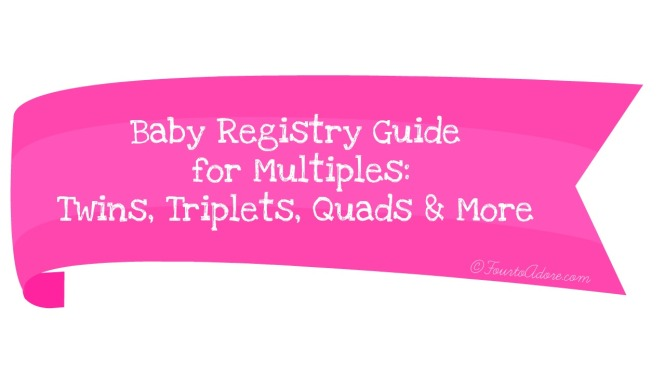 What to register for when you are expecting multiples and quantities for each item