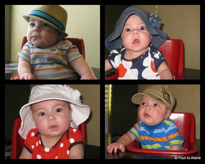 Clockwise from top:Harper, Sydney, Rylin, & Mason