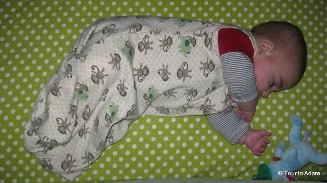 Our little side sleeper, Harper.