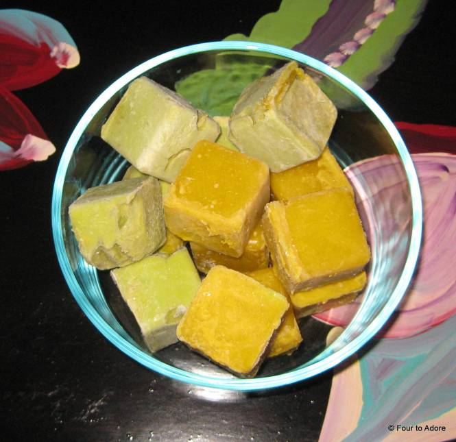 Frozen avocado cubes plus frozen mango cubes become a baby delicacy.