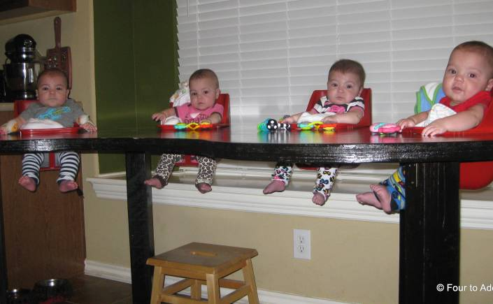 quad feeding table