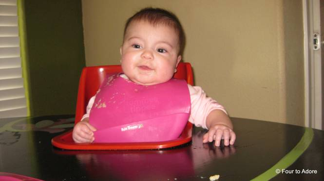 Here is Rylin after a feed with her new bib!