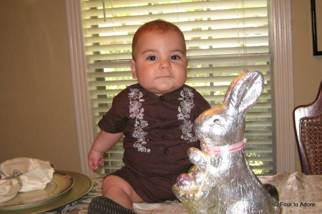 Nisey thought Harper would enhance her Bunny centerpieces.