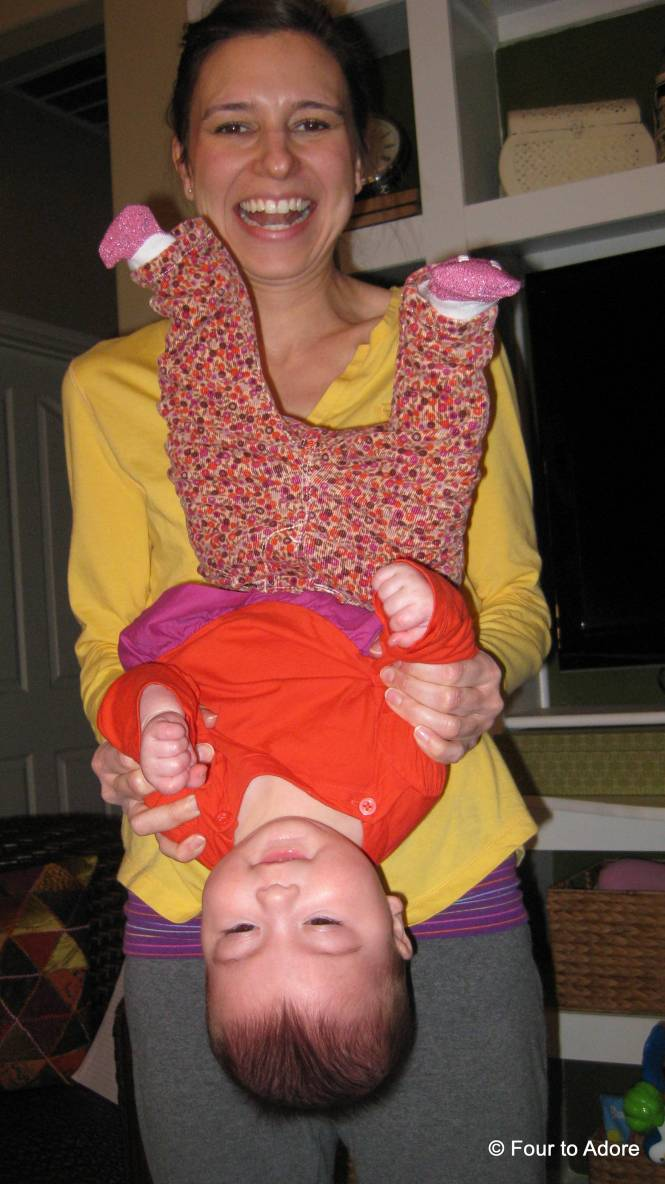 Okay, not multitasking here, but I've got to show how much they LOVE going upside down now!