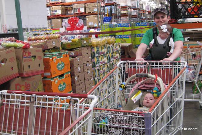 If you were shopping our our neighborhodd Costco today, you would have observed this scene.