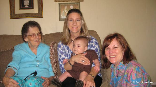 Harper seems to be quite the ladies man.  Grandma, Terri, and Nisey doted on him all together.