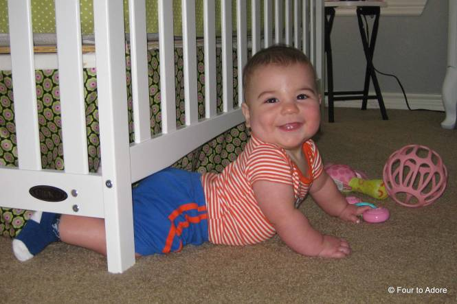 Harper backed it up and under Sydney's crib.