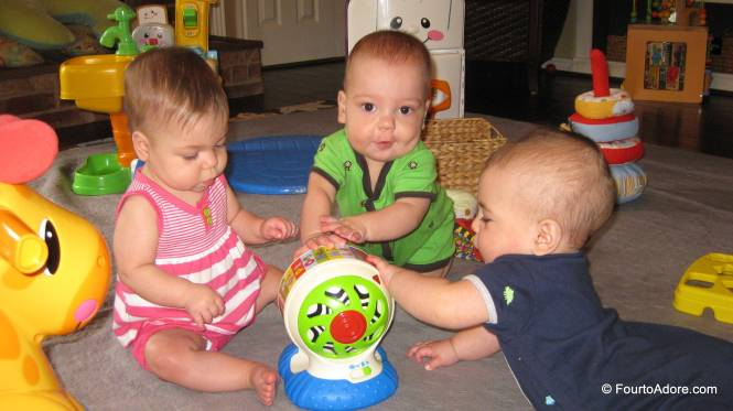 Sydney, Mason, and Harper were enamored with this spinning toy.