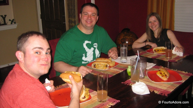 George, Rick, and Holly enjoying the grub!