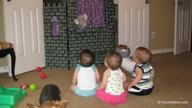 For a brief moment, everyone watched the puppet show.