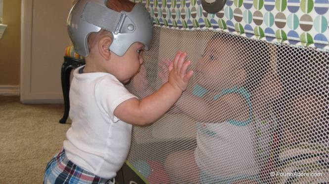 Mason decided to visit his sibs in the ball pit.