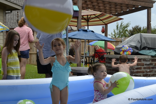 The bigger kids congregated in the deeper of the pools.