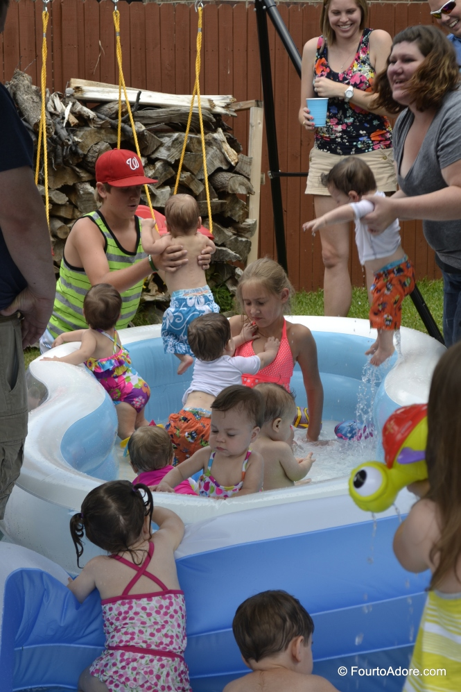 How many littles can you cram into an inflatable pool?