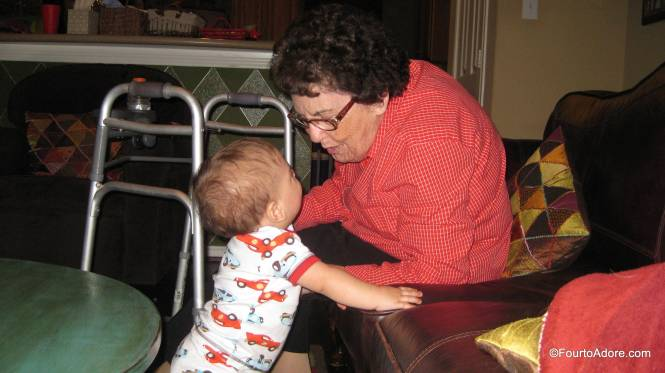 Harper greeted Grandma with his big toothy grin.
