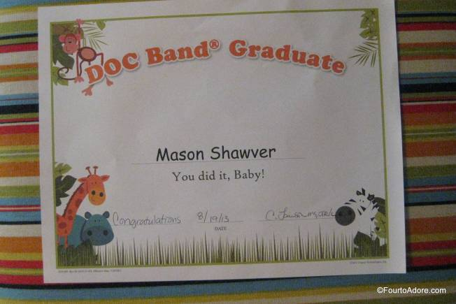 They didn't play Pomp and Circumstance, but Mason did receive a diploma.