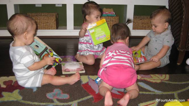 If I want the babies to enjoy books, I need to model reading for them!