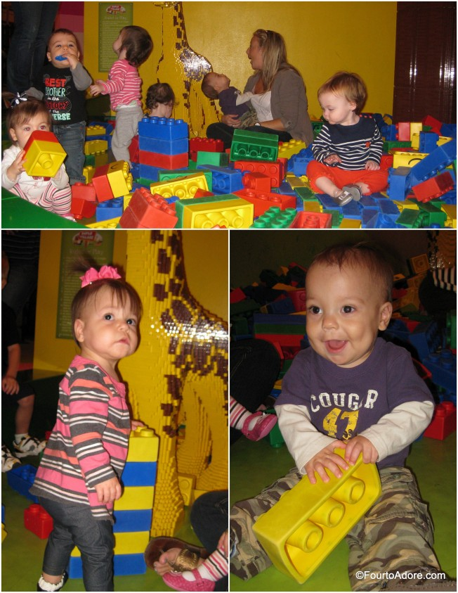 I think eight babies in a Lego pit is about capacity.