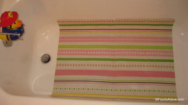 What appears to be an oversize bathmat, is actually two identical bathmats.