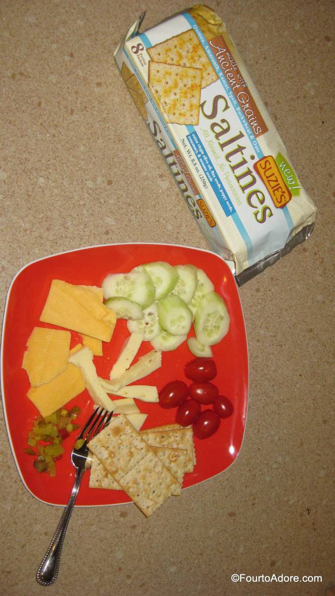 The herbal flavors in the saltines paired well with crudites and cheese.