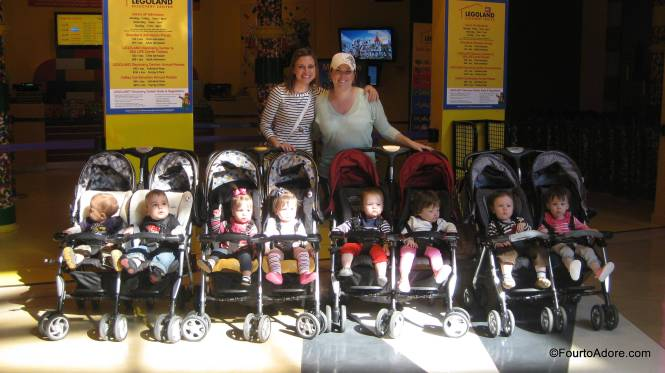 In case you ever wondered, this is what four twin strollers filled with eight babies looks like.  I do not envy Nadia Soulman one bit, eight babies is  A LOT of babies!
