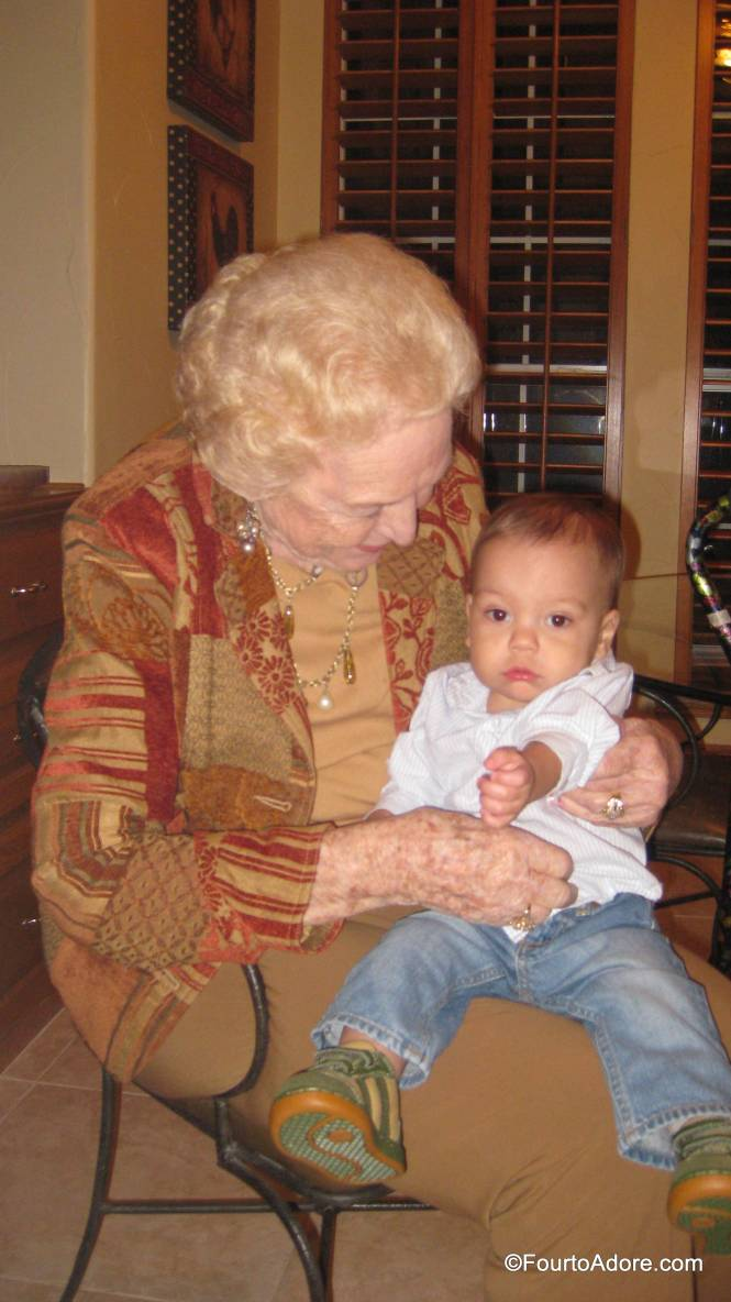 Mamaw absolutely adored the boys, especially when Mason crawled into her lap.