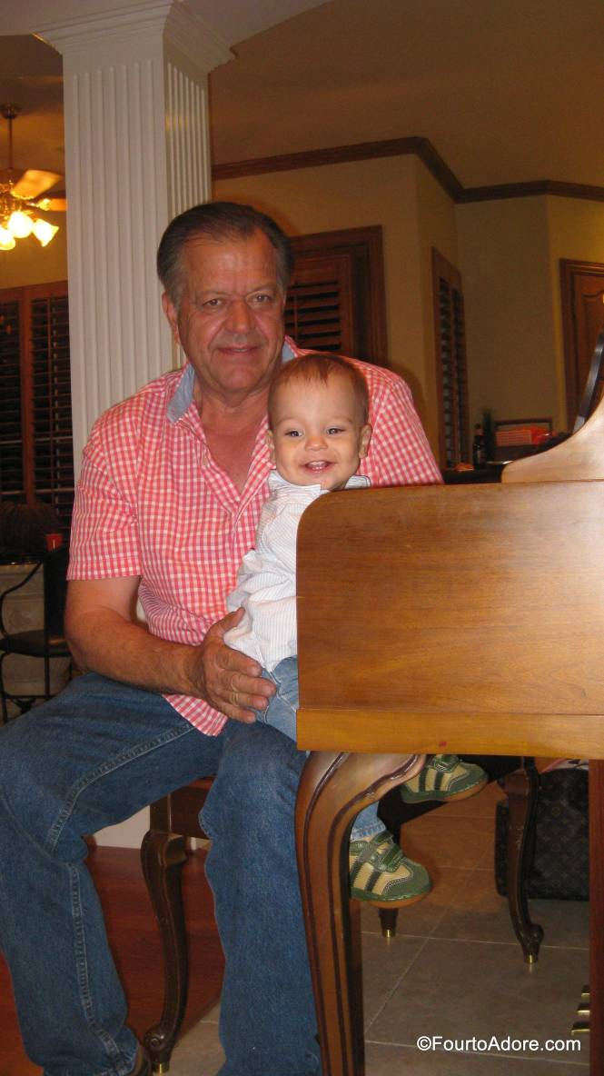 Mason showed Grandpa how to tickle the ivories.