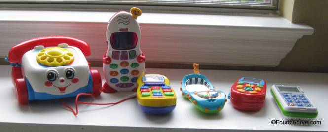 This is quite the collection of toy phones.