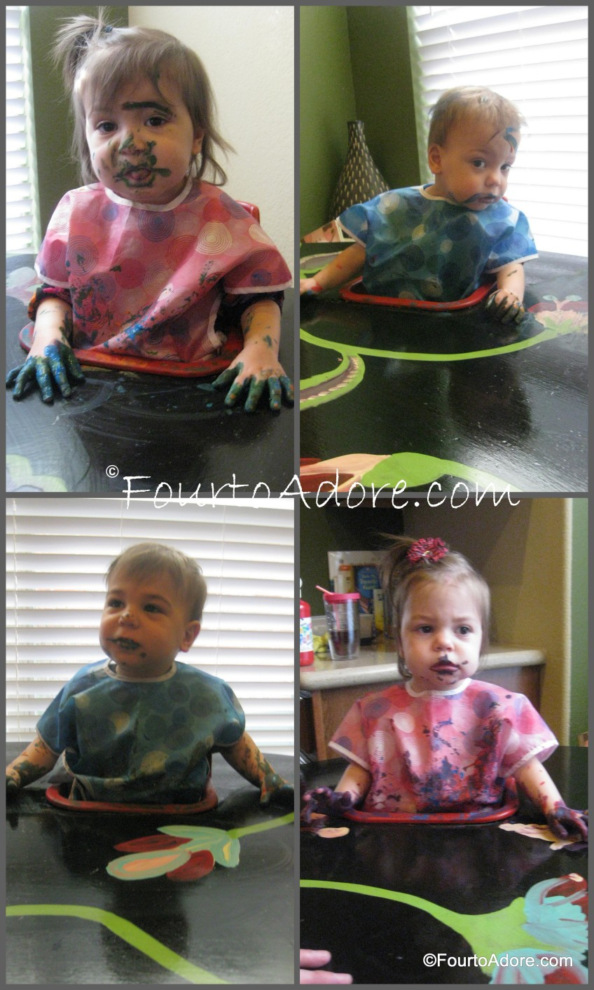 This is how everyone looked after painting their respective masterpieces.  I believe Rylin was channeling Frida Kahlo.