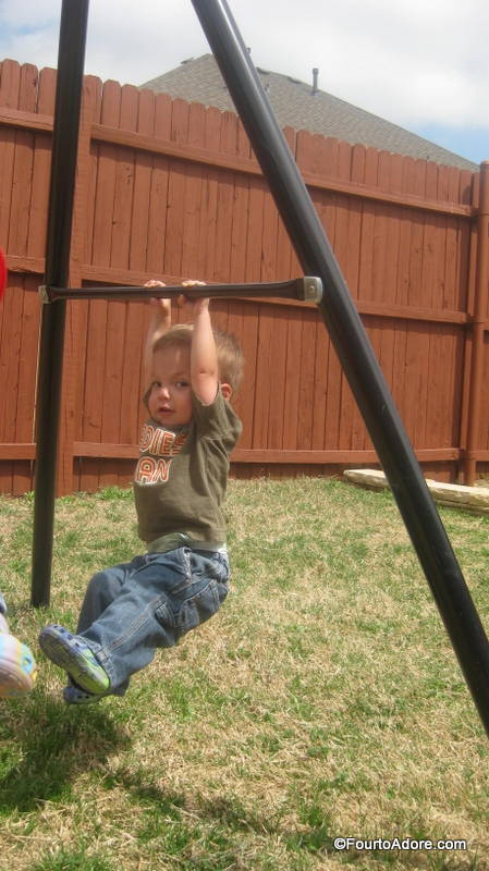 Mason is proving himself to be quite acrobatic.