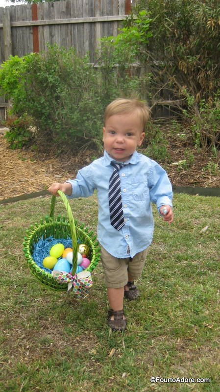 Mason wasn't going to let Rylin have all the eggs.  He gave her a run for her money.