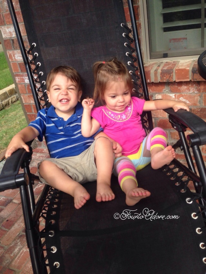 When rainy days resulted in a sloshy back yard, we discovered the front porch as a play space.