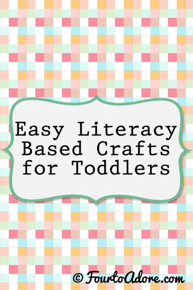 Any craft can be literacy based, all you need to do is read a related book first, and introduce new vocabulary/ concepts. Pairing books with crafts helps make concepts and vocabulary salient for little ones.