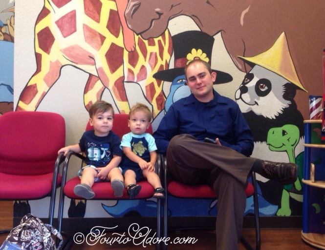 The boys seemed to enjoy not having their sisters tag along for the appointment.