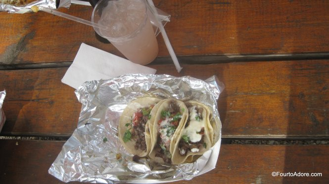 street tacos and salted watermelon lemonade
