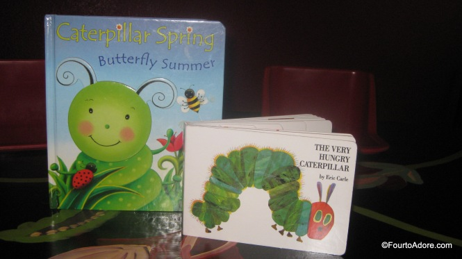 Butterfly Summer and The Very Hungry Caterpillar were both in our library so I pulled them for this activity.
