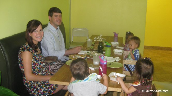Restaurants with large tables and many high chairs are ideal for large families