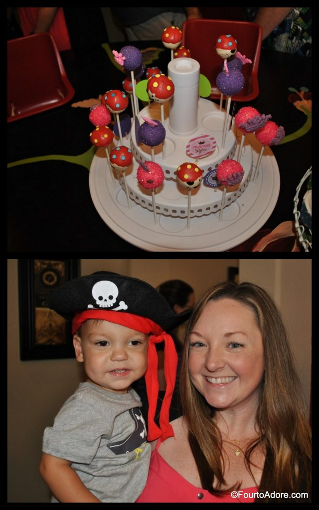 pirate and princess cake pops