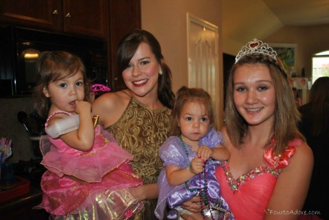 Wear old prom or bridesmaid dresses for a princess themed birthday party