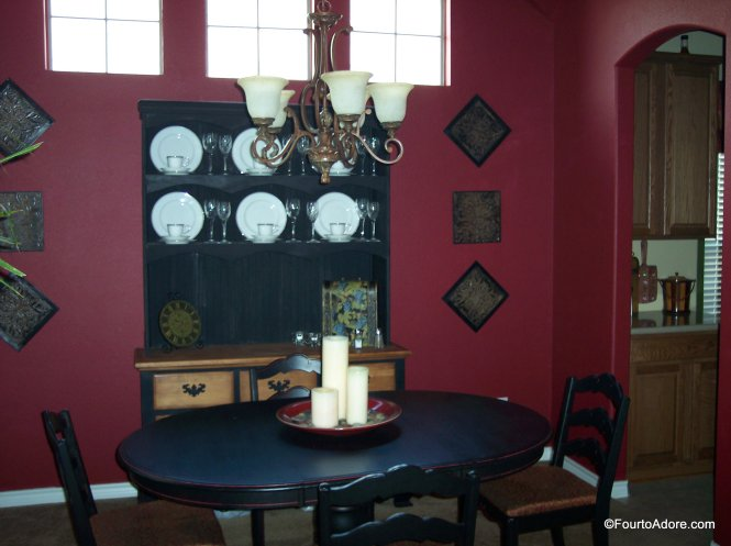 Pottery Barn inspired black table, thrift store redo