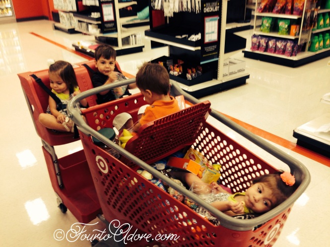 Triple seater carts work great for multiple toddlers