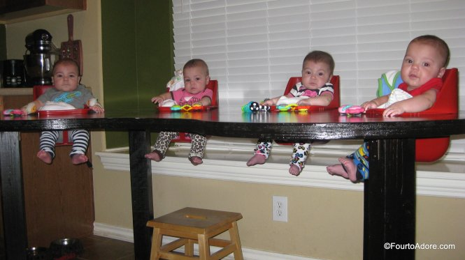 quadruplet feeding table/ toddler table