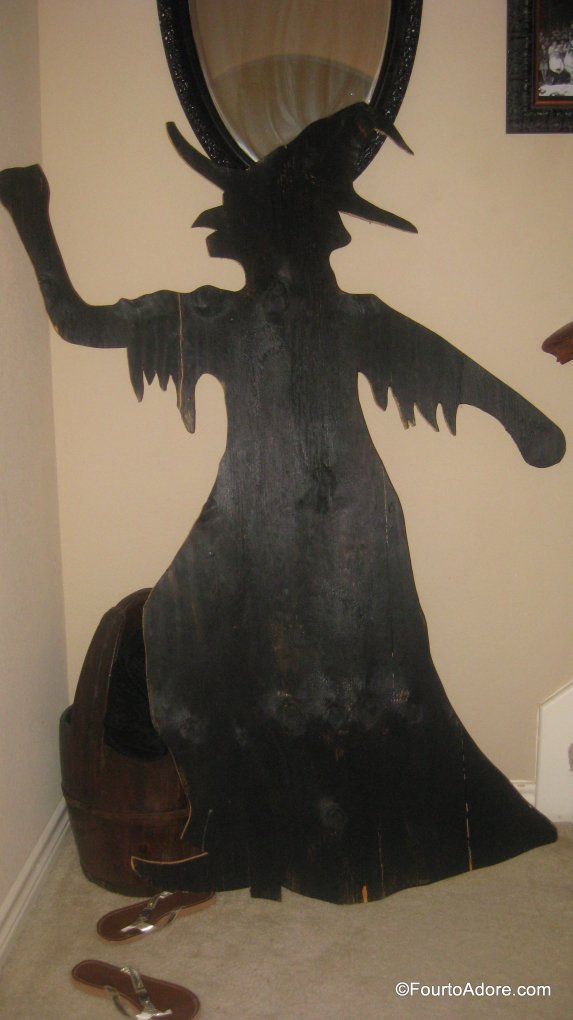 Halloween decoration, witch siholette