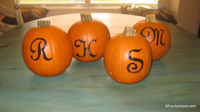DIY Monogram pumpkins